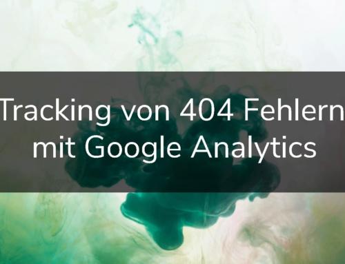 Tracking von 404 Fehlern mit Google Analytics